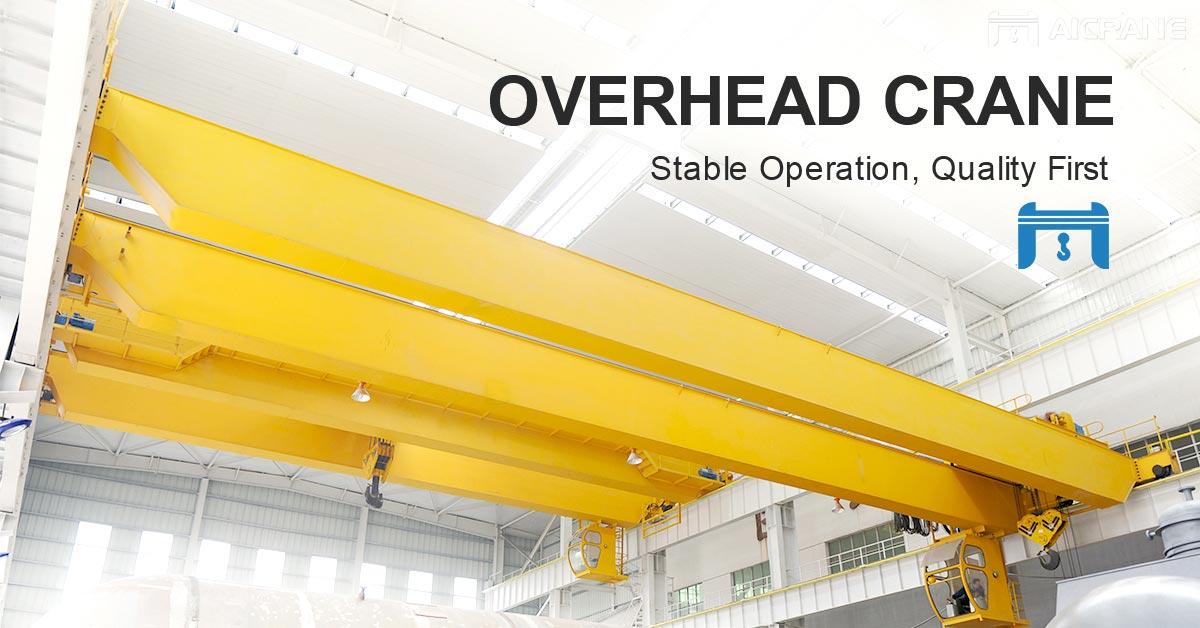 overhead crane for lifting heavy materials