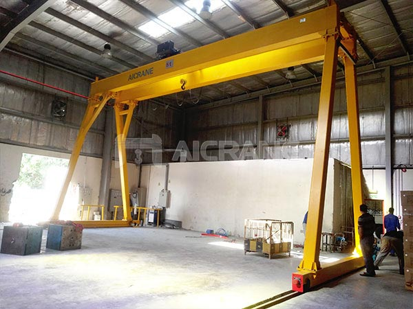 5-ton-double-girder-gantry-crane-warehouse