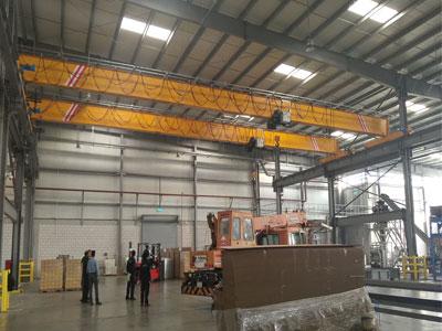 5t-European-Single-Girder-Overhead-Crane-was-Installed-in-Saudi-Arabia-1