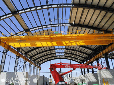 Overhead Crane Used for Outdoor Project