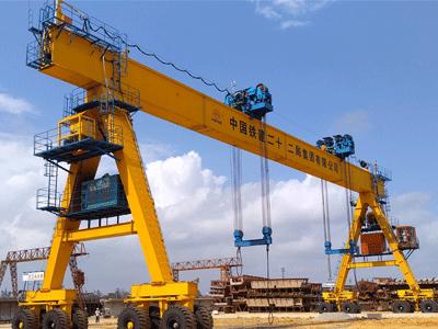 Straddle Carrier Gantry Crane for Bridge Box Girder