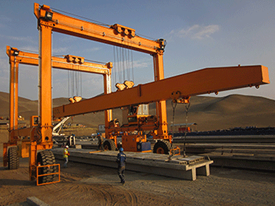 Straddle Carrier Rubber Tyred Gantry Crane for Precast Parts