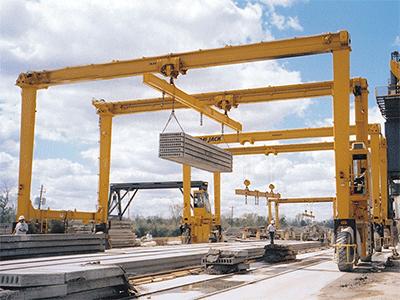 Straddle Carrier Rubber Tyred Gantry Crane for Slab