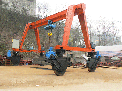 Straddle Carrier Rubber Tyred Gantry Crane for Yard