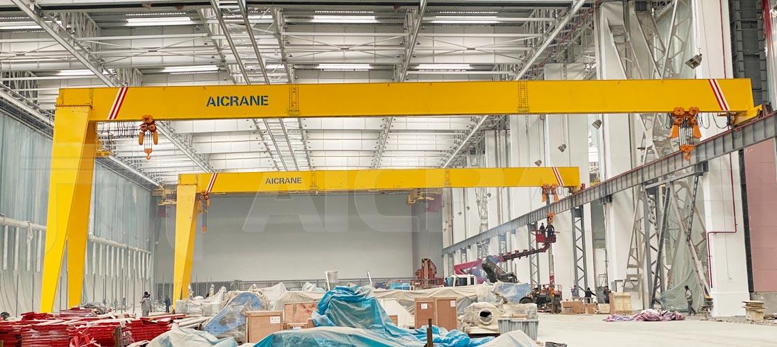 semi-gantry-crane-in-warehouse
