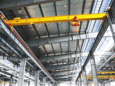 single-girder-overhead-crane-with-chain-hoist